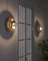 Contemporary wall light / aluminum / brass / LED