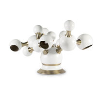 Table lamp / original design / steel / brass