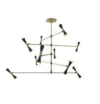 Original design chandelier / brass / aluminum / LED