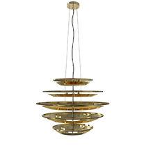Original design chandelier / aluminum / gold-plated brass / LED