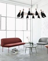 Contemporary chandelier / aluminum / brass / handmade