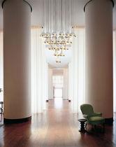 Contemporary chandelier / aluminum / brass / commercial