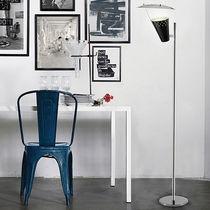 Floor-standing lamp / vintage / aluminum / brass