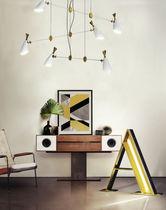 Floor-standing lamp / original design / brass / golden