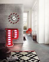 Floor-standing lamp / original design / aluminum / stainless steel