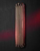 Contemporary wall light / brass / fluorescent / handmade
