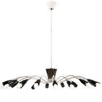 Contemporary chandelier / brass / aluminum / incandescent
