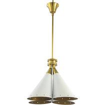 Pendant lamp / original design / aluminum / brass