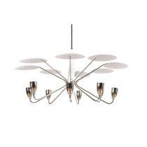Original design chandelier / brass / steel / aluminum