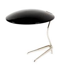 Table lamp / original design / aluminum / brass