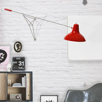 Contemporary wall light / aluminum / brass / fluorescent