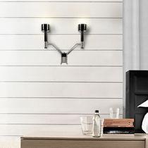 Scandinavian style wall light / aluminum / brass / fluorescent