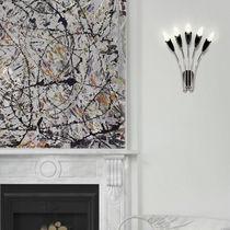 Original design wall light / aluminum / brass / LED