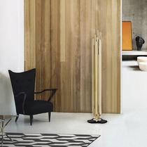 Floor-standing lamp / Art Deco / steel / brass