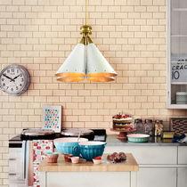 Pendant lamp / industrial style / aluminum / brass