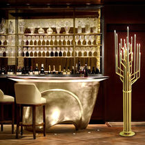 Floor-standing lamp / original design / brass / handmade