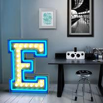 Floor-standing lamp / original design / aluminum / neon