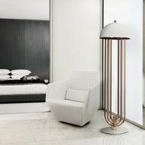 Floor-standing lamp / Art Deco / aluminum / brass