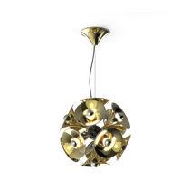 Pendant lamp / original design / nickel / brass