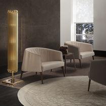 Floor-standing lamp / contemporary / steel / brass