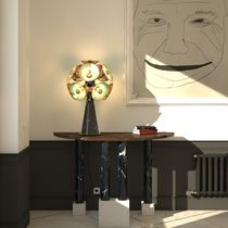 Table lamp / original design / brass / marble