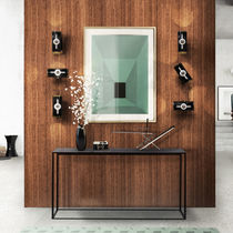 Contemporary wall light / brass / steel / LED