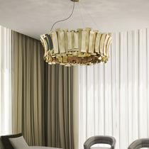 Pendant lamp / contemporary / brass / handmade