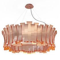 Pendant lamp / contemporary / brass / golden