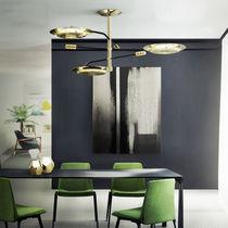 Pendant lamp / contemporary / brass / adjustable