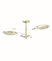 Pendant lamp / contemporary / brass / silver