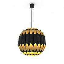 Pendant lamp / contemporary / aluminum / golden