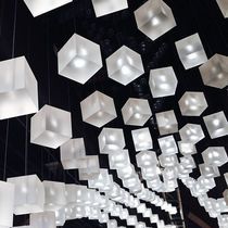 Pendant lamp / contemporary / acrylic / custom