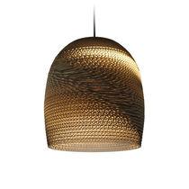 Pendant lamp / contemporary / cardboard