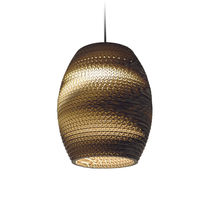 Pendant lamp / contemporary / cardboard / LED