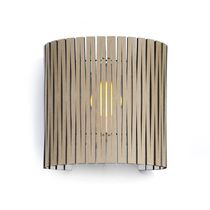 Contemporary wall light / outdoor / steel