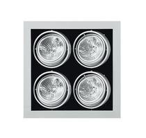 Recessed ceiling spotlight / indoor / halogen / square