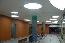 Recessed ceiling light fixture / recessed floor / fluorescent / round
