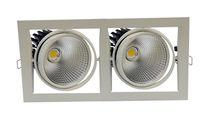 Recessed ceiling spotlight / indoor / LED / metal