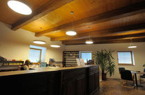 Contemporary ceiling light / round / aluminum / fluorescent