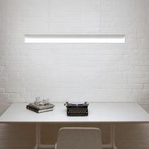 Surface-mounted light fixture / hanging / LED / rectangular