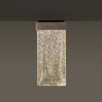 Contemporary ceiling light / rectangular / glass / LED
