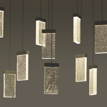 Contemporary chandelier / glass / LED / handmade