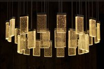 Contemporary chandelier / glass / aluminum / LED