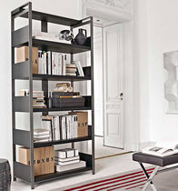 Contemporary shelf / metal / commercial / with storage compartment