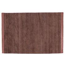 Contemporary rug / plain / silk / cotton