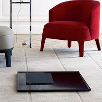 Contemporary rug / plain / wool / rectangular