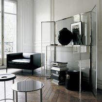 Contemporary sideboard table / glass / round / by Antonio Citterio