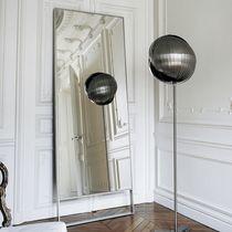 Free-standing mirror / contemporary / rectangular / metal