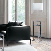 Floor-standing lamp / contemporary / fabric / parchment