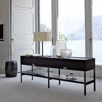 Contemporary sideboard table / solid wood / rectangular / with drawer